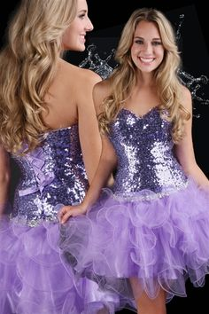 Flirty Sexy Strapless Sequinned Short Evening Prom Dress!  Wow!  See at Bootsies on Bonanza