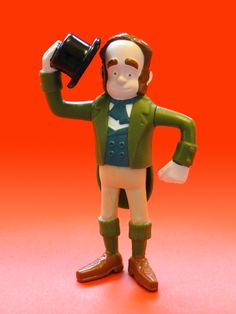 The Pirates! In An Adventure With Scientists Happy Meal toy: Charles Darwin (UK only, 2012) · Photo ©2013 Jeff Pidgeon