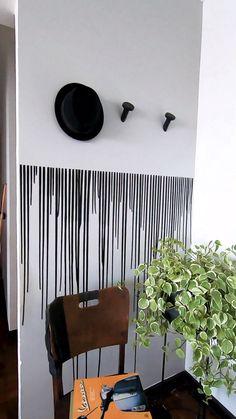 Tutorial de parede de tinta com seringa, Bedroom Wall Designs, Diy Bedroom Decor, Living Room Decor, Diy Wall Decor, Diy Home Crafts, Diy Home Decor, Flur Design, Design Design, Wall Painting Decor
