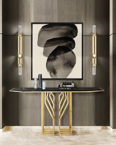 When rebel meets nature it creates nothing but an uncontrollable force. Scarp Console's insurgent gold plated brass legs and Nero Marquina marble brings out the strongest presence in modern projects. Consoles, Contemporary Design, Modern Design, Entry Way Design, Modern Console Tables, Luxury Furniture Brands, Scandinavian Interior, Entryway Decor, Entryway Lighting