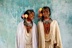 Two young Dongria Kondh women of the Niyamgiri hills in Odisha state, India