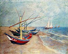Vincent Van Gogh - Fischerboote am Strand von Saintes-Maries - jetzt bestellen auf kunst-fuer-alle.de