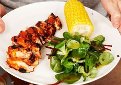 Gwyneth Paltrow's Grilled Chicken w/ Peach BBQ Sauce Recipe