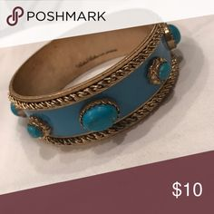 Anthropologie Blue and Gold Bangle Bracelet Couture Couture blue and gold detail bangle bracelets. 🌟 Offers accepted! 🌟 Bundles accepted! 🌟 15% off 2+ items ❌ trades ❌ PayPal Anthropologie Jewelry Bracelets