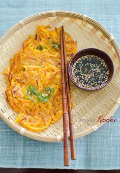 Korean Pumpkin Pancakes - throw your Kimchi on these bad boys