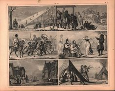Russian Sleighing Festivity Antique Print 1857