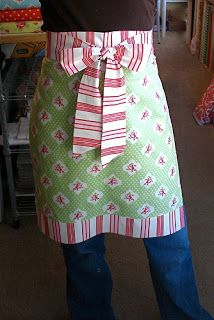 Apron in an Hour, free pattern by Jona Giammalva of Stop Staring and Start Sewing