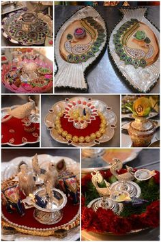 Bride of the month - Indian Wedding Favors, Bengali Wedding, Indian Wedding Decorations, Bengali Bride, Indian Weddings, Thali Decoration Ideas, Diwali Decorations, Plate Collage, Flower Rangoli