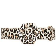 Alice + Olivia Cheetah Printed Calf Hair Hexagon Black Belt ($70) ❤ liked on Polyvore featuring accessories, belts, fawn, cheetah print belt, oversized belt, alice + olivia, cheetah belt and buckle belt