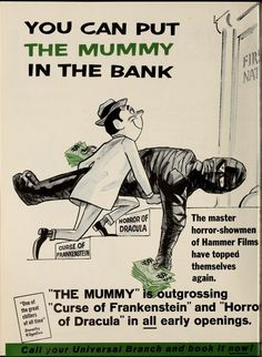 Trade magazine ad for the MUMMY (1959)