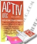 Activ-otc produces the fastest, hardest, longest lasting erections for men and the most frenzied orgasms for women youve ever had. Activ-otcs tiny strips are actually an extremely powerful sex stimulant. The full force of Activ-otc is delivered immediately into the blood stream by dissolving under the tongue