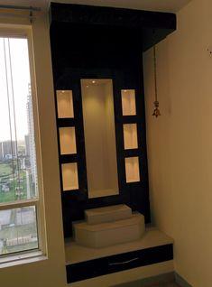 Mandir area modern living room by design kreations modern