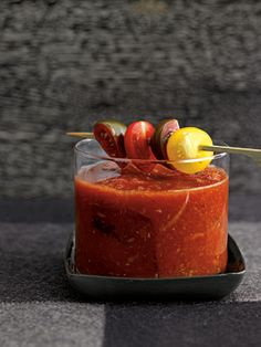 Heirloom tomato bloody Mary. I could live on bloody Marys in summertime!