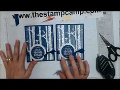 Tuesday's Tips & Techniques - Glittered Embossed Backgrounds www.thestampcamp.com - YouTube