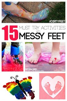 Messy Play ideas using Feet DirtyFeet AD