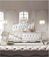 white bedroom glam loooooove that bed....please! I need this entire room