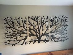 New sculpture wall art 3d metal decor modern black wooden stained varnished interior design rectangle hanging