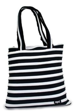 Black and White Campus tote, large enough to carry everything you need around campus!
