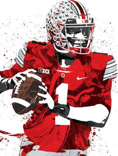Ohio State Football Players, Texas Tech Football, Buckeyes Football, Bears Football, Steelers Football, Ohio State Buckeyes, Sports Art, Sports Teams, Kobe Bryant Michael Jordan