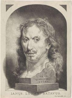 Johannes Lutma (II)   Zelfportret van Johannes Lutma de Jonge in een nis, Johannes Lutma (II), 1681  