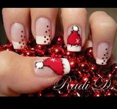 Uñas navideñas