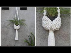 Macrame Plant Hanger Patterns, Macrame Plant Holder, Macrame Patterns, Plant Holders, Diy Tutorial, Macrame Tutorial, Macrame Owl, Macrame Knots, Diy Crafts Hacks