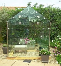 The new middle-class must-have is a £3,500 frameless greenhouse, made by Pure Greenhouse(pictured)
