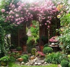 romantischer garten | garten-oase, weiße blumen und gärten, Garten Ideen