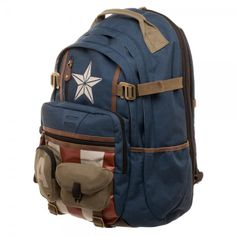 ba22231a6f37 Bioworld  Marvel Captain America Built with Herringbone Backpack Apparel Marvel  Captain America