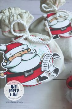 ESAD Blog Hop – Stampin' Up! Signs of Santa Christmas Sacks – with Katrina Duffell from Ink Paper Girl