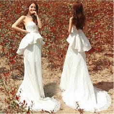 >> Click to Buy << 2015 free shipping Off-shoulder white bandage wedding dress bridal gown custom casamento vestido de noiva curto julie vino TK206 #Affiliate