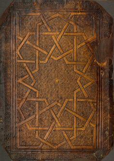 "lostsplendor: "" Century Egyptian Book Binding via The Museum of Islamic Art (by Plum leaves) "" Old Books, Antique Books, Google Art Project, Islamic Patterns, Geometric Patterns, Medieval Books, Beautiful Book Covers, Arabic Art, Vintage Maps"