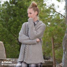 Slouchy Crochet Cardigan | Free Pattern | Yarnspirations