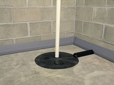 Collects and quielty drains seeping basement water