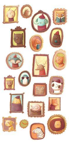 Illustration Art Vintage - Illustration by Monika Filipina Trzpil: Roarrring in Bologna - Best Art Pins Art And Illustration, Illustrations Posters, Deco Retro, Art Vintage, Wow Art, Cute Drawings, Cute Art, Illustrators, Artsy