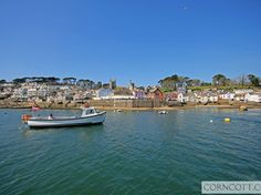 Approaching Fowey Town Quay on the passenger ferry from Polruan, such a beautiful part of Cornwall! Holiday Cottages In Cornwall, Cornish Cottage, Designated Area, House Sitting, Holiday Accommodation, Pastel Colors, The Row, Terrace, The Good Place