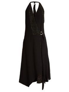 Crystal-embellished crepe wrap dress | Versace | MATCHESFASHION.COM US