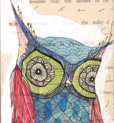 Beautiful owl print from artist Cori Dantini's Etsy shop. Check out Cori's blog: www.coridantinimakes.blogspot.com #coridantini #owl