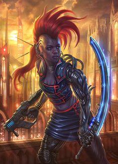 Cyberpunk girl by Takeda11 on deviantART