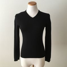 Black wool sweater Black wool sweater United Colors Of Benetton Sweaters V-Necks