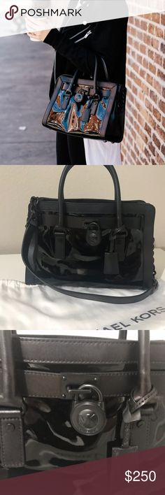 Michael Kors Hamilton Patent-Leather Satchel LIKE NEW Patent Leather Hamilton with matte black hardware. Used maybe 3 times, excellent condition. With dust bag. Michael Kors Bags