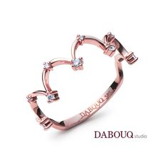 Dabouq Studio Single Ring - DER0006 - Simple+