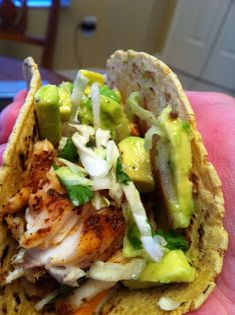 Cook Laugh Love: Fish Tacos  Excellent recipe! I'm not a fish person but this was tasty. We used orange roughy.