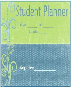 Student Planner- free customizable student planners- choose a cover page calendar thought records and much Student Agenda, Student Binders, Student Info, Student Planner Printable, Planner Pages, 2015 Planner, Planner Ideas, School Counselor, Classroom Organization