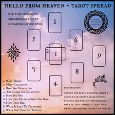 Tarotize: The 'Hello From Heaven' Tarot Spread - A Spread for Halloween | Samhain | Oracle Cards | Divination | Psychic | Pagan