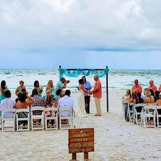 #beachwedding #beachbride #brideandgroom #justmarried #floridawedding Beach Ceremony, Wedding Ceremony, Our Wedding, Destination Wedding, Wedding Planning, Dream Wedding, Beach Wedding Packages, Beach Weddings, Simple Weddings