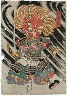 Minamoto Yorimitsu (Raikô) 「源頼光」 Japanese, Edo period, about 1820 (Bunsei 3) Artist Utagawa Kuniyoshi, Japanese, 1797–1861, Woodblock print (nishiki-e); ink and color on paper, MFA