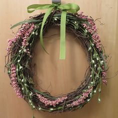 Simple Spring Wreath - Just Crafty Enough