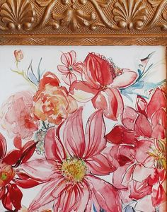 Image of Dahlia and Begonia 8x10 Artist Signed Print