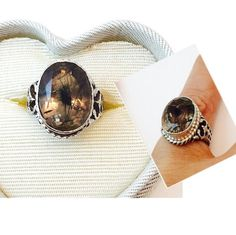 Vintage Black Rutilated Quartz gemstone set on by Gemstone4u